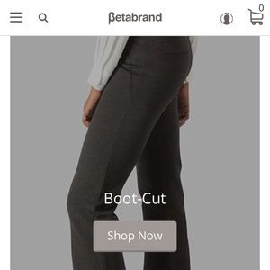 Betabrand bootcut yoga dress pants in charcoal sm